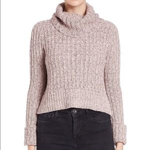 Free People Turtle Neck Sweater Sz Small Pink
